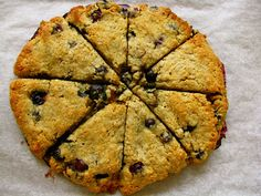 Bluberry Cranberry Scones-I substitued fresh cranberries, added a bit of extra honey, and substituted cinnamon with almond extract! Perfect fall treat with coffee!