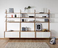 Link hylla ek/vit - Nilssons Möbler i Lammhult AB Interior Concept, Interior Design, Furniture Decor, Furniture Design, Simple Apartment Decor, Modular Shelving, Living Room Shelves, Office Interiors, Design Awards