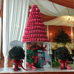 Red Red Macaron Tower for Asrina & Wandi's Wedding