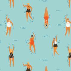 swimpatterncurv fabric by tasiania on Spoonflower - custom fabric
