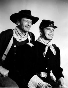 Marion Mitchell Morrison (Stage name: John Wayne) & Patrick John Morrison (Stage name Patrick Wayne). BW photo from The movie: The Searchers John Wayne Son, John Wayne Quotes, John Wayne Movies, Hollywood Stars, Classic Hollywood, Old Hollywood, Hollywood Icons, Ronald Colman, Michael Fassbender