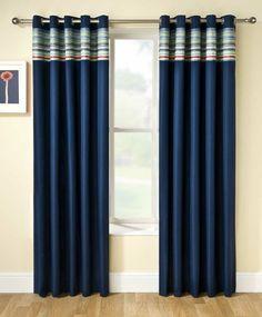 rideaux occultants de couleur bleu, rideau ocultant bleu, salon moderne