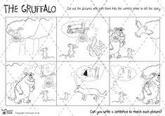 Teacher's Pet - The Gruffalo Story Sequencing (B & W) - Premium Printable Classroom Activities and Games - EYFS, grufalo, julia, donaldson Gruffalo Activities, Fun Fall Activities, Sequencing Activities, Classroom Activities, Learning Activities, Gruffalo's Child, Story Sequencing, The Gruffalo, Teacher's Pet