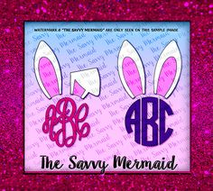 SALE! Easter Monogram SVG file - Bunny Ears Monogram- Cricut Cuttable Easter Vinyl Shirt Design- SVG Silhouette Cameo Cut files-  Use with Silhouette or Cricut or as a Printable Iron On Design!  Svg Eps Dxf Png Jpg