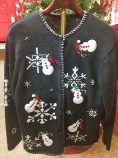 Ugly Christmas Sweater Sweatshirt VTG Mens Womens xL all Over Party Winner   fashion  clothing 6d3a0e60f411