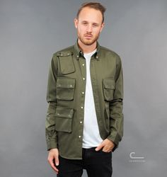 Mark McNairy Multi Pocket Shirt (SH03) - Caliroots.com