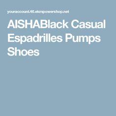 AISHABlack Casual Espadrilles Pumps Shoes