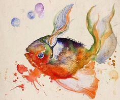 "Saatchi Art Artist SANTHOSH C H; Painting, ""fish"" #art"