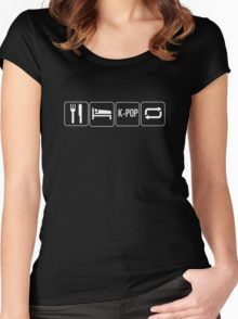 eat sleep kpop Women's Fitted Scoop T-Shirt