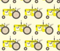 yellow_tractor fabric by holli_zollinger on Spoonflower - custom fabric