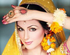 Floral jewelry and Jodha Akbar-inspired ring.