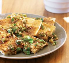 Seasoned Tofu from Quick and Easy Korean Cooking (Gourmet Cook Book Club Selection) by Cecilia Hae-Jin Lee Tofu Recipes, Heart Healthy Recipes, Cookbook Recipes, Asian Recipes, Vegetarian Recipes, Cooking Recipes, Ethnic Recipes, Asian Foods, Yummy Recipes