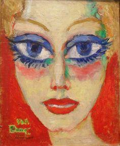 Kees van Dongen, Mujer de ojos azules, 1908.