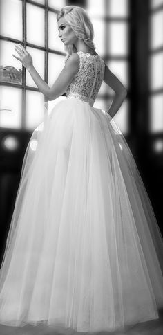 Tulle and lace ~ One Love by Bien Savvy 2014 Bridal Collection | bellethemagazine.com