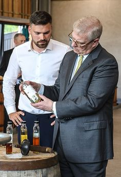 During his visit to Lindores Abbey Distillery, the royal enjoyed a tour around the premise. Duchess Of York, Duke Of York, Duke And Duchess, Princess Beatrice, Princess Eugenie, Prince Andrew, Prince Philip, British Monarchy History, Order Of The Garter