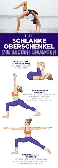 Lean thighs: 3 simple yoga exercises that immediately .- Schlanke Oberschenkel: 3 einfache Yoga-Übungen, die sofort helfen Lean thighs: 3 simple yoga exercises that help immediately # legs # thighs # workout # slender legs # legs - Fitness Del Yoga, Fitness Workouts, Fun Workouts, Training Fitness, Hiking Training, Strength Training, Fitness Goals, Fitness Motivation, Fitness And Exercise