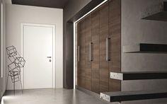 Porte battante / en bois / pour dressing / pour placard - SOVRANA: Quaranta + Miria