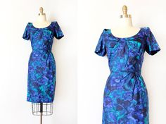 vintage 1960s dress // 60s designer silk wiggle by TrunkofDresses