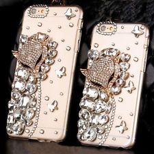 Hot 3D Crystal Fox Head Rhinestone Case Cover Skin For Apple iPhone 6S Plus