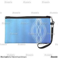 Blue Lights Wristlet Purse