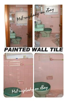 DIY: PAINT BATHROOM TILE WALL U0026 FLOOR   After Over A Decade, I Was Tired Of  Looking At That Dark/dirty Grout On My PINK Bathroom Tile Walls.... So What  Did ... Part 84