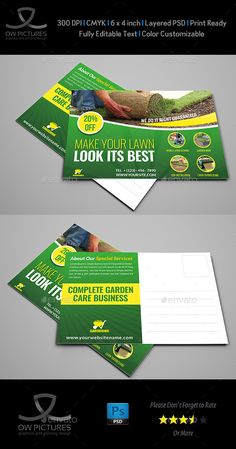 Garden Services Postcard Template Vol.2  — PSD Template #leaflet #flyer •…