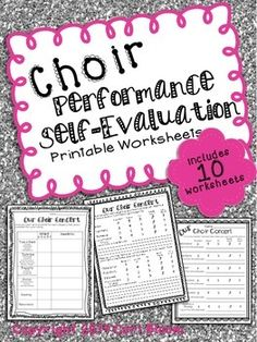 Music Performance Self-Evaluation, Choir