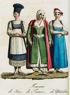 Women from Chios, Samos and Lesbos. Samos, Antoine Laurent, Greek Dress, Southern Italy, Historical Clothing, Greece, Europe, Places, Painting