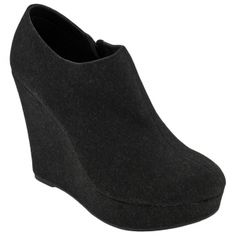 SALE - Chinese Laundry Hot Desert Wedge Boots Womens Black Flannel - Was $79.00 - SAVE $44.00. BUY Now - ONLY $35.24