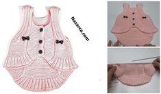 ASKILI VEREV BEBEK BOLERO YAPIMI | Nazarca.com Baby Knitting Patterns, Crochet, Diy And Crafts, Peplum, Tank Tops, Women, Islam, Create, Fashion