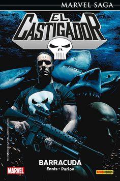 """Marvel Saga 38. El Castigador 7Con """"Barracuda"""". Frank Castle se enfrenta a su más peligroso enemigo hasta la fecha. Es grande, es implacable, es poderoso, disfruta alimentando a los tiburones y lo último que te gustaría es verle sonreír."""