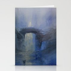 Under the bridge Art Print by taylorbernart Stationery, Blank White, Art Prints, Envelopes, Card Stock, Artwork, Cards, Smooth, Painting