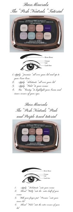 Bare minerals the posh Neutrals tutorials