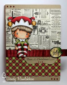 Elves Make Christmas Happen, CC Designs stamp