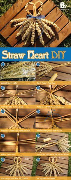 Straw Weaving - Heart -