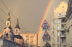Rainbow in Moscow