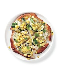 Get the recipe for Zucchini and Corn Pizzas.