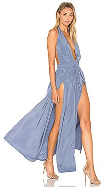 Assali Chi Dress in Blue Jean
