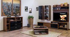 Bling - modern nappali dijoni dió - fényes fekete színben. Flat Screen, Wall, Furniture, Home Decor, Tv, Blood Plasma, Decoration Home, Room Decor, Television Set