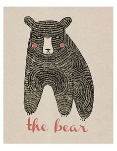 the bear simple illustration