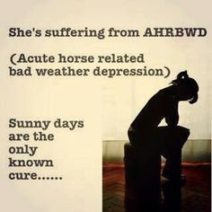 Haha a part of me dies when it's raining and I can't go riding! :)