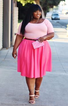 dd07b09af8e Plus Size Clothing for Women - J. Kane Salmon Skirt - Society+ - Society  Plus