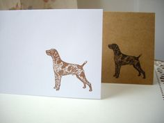 german shorthaired pointer stationery, dog stationery, german shorthaired pointer cards, GSP cards, 8 cards by JDooreCreations on Etsy