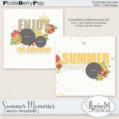 Summer Memories Sketch Templates By Lorie M Designs