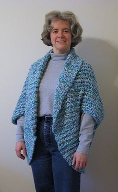 Ravelry: Simple Crochet Shrug pattern by Lion Brand Yarn... I made this, in a different color,  it's easy, practical and looks nice.