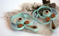 pendientes de papel 100% y barniz ecológico, Bisutería, Pendientes