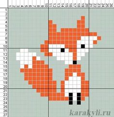 Simple Cross Stitch, Cross Stitch Baby, Cross Stitch Animals, Cross Stitching, Cross Stitch Embroidery, Embroidery Patterns, Cross Stitch Designs, Cross Stitch Patterns, Fox Crafts