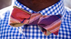fashion forward: 2 patterns + contrasting colors {imagine if tie were navy + white, then preppy/cool}