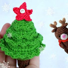 The Christmas Tree Crochet Pattern is very easy. It will take a couple of hours to make a beautiful fir-tree. The height of Christmas tree is about 9-12 cm.