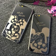 Hot New Mirror Style Cute Sweet Mickey Minnie Mouse TPU Mobile Phone Cases Cover For iPhone 5 5G 5S 6 6G 6S 4.7 6Plus 5.5 Inch //     Price: US $2.99 & Free Shipping //     Casesaholic.com //     #cellphonecase   #lifestyle